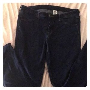 Skinny regular waist H&M blue jeans